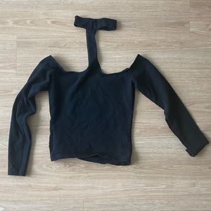 American Apparel Crop With Choker Collar Size: M